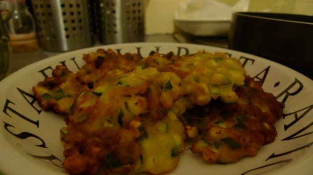 Zucchini (courgette ) fritters