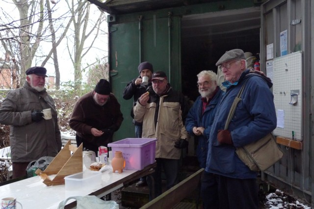 Ealing beekeepers in the snow