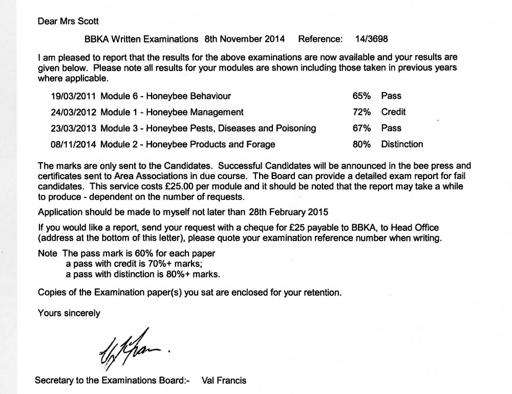 module 2 exam results