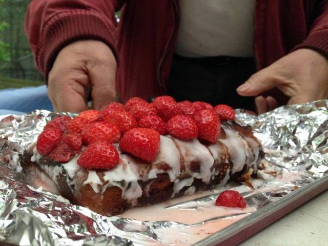 Clare's strawberry cake