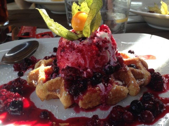 Fruits of the forest waffle