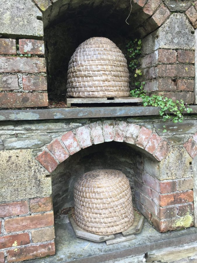 Bee boles at Heligan gardens