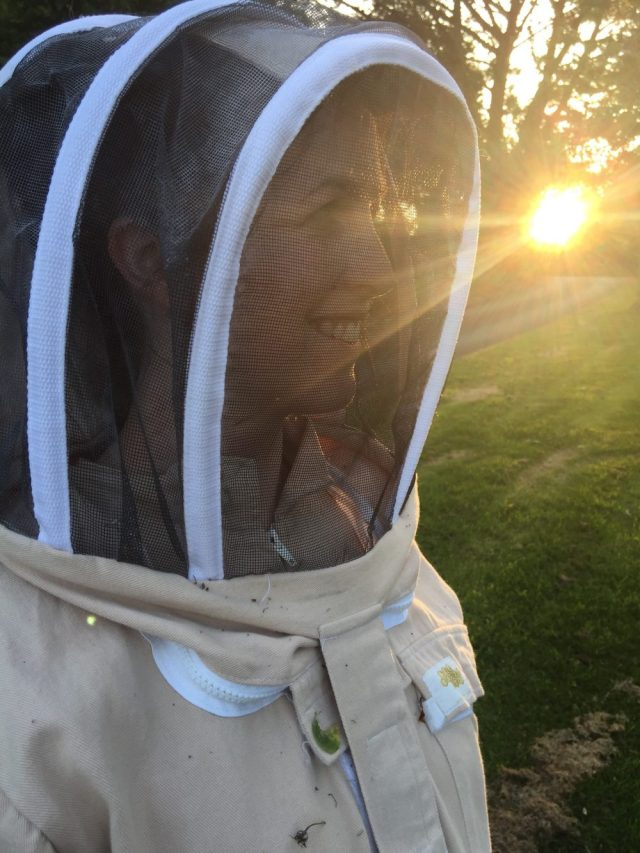 Oni in a bee suit, photo by Alan Law